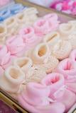 Ζωηρόχρωμες μικρούλες παντόφλες βαμβακιού Στοκ φωτογραφία με δικαίωμα ελεύθερης χρήσης