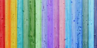 Ζωηρόχρωμες ξύλινες σανίδες - πανόραμα Στοκ Εικόνα