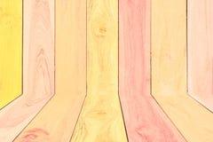 Ζωηρόχρωμες ξύλινες υπόβαθρο & σύσταση Στοκ φωτογραφία με δικαίωμα ελεύθερης χρήσης