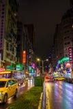 Ζωηρόχρωμες οδοί νύχτας της Ταϊπέι Στοκ φωτογραφίες με δικαίωμα ελεύθερης χρήσης