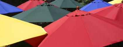 ζωηρόχρωμες ομπρέλες Στοκ Φωτογραφίες