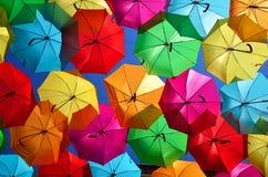 ζωηρόχρωμες ομπρέλες Στοκ Εικόνα