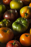 Ζωηρόχρωμες οργανικές ντομάτες οικογενειακών κειμηλίων Στοκ Εικόνα