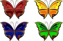 Ζωηρόχρωμες πεταλούδες Στοκ Εικόνες