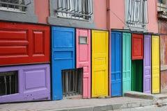 ζωηρόχρωμες πόρτες Στοκ Εικόνες