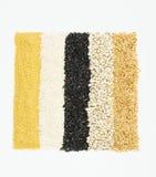 Ζωηρόχρωμες ριγωτές σειρές των ρυζιών Στοκ Εικόνα