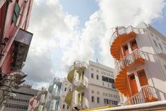 Ζωηρόχρωμες σειρές της σπειροειδούς σκάλας στην περιοχή Bugis Στοκ φωτογραφίες με δικαίωμα ελεύθερης χρήσης