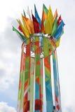 ζωηρόχρωμες σημαίες Στοκ Εικόνες