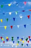 Ζωηρόχρωμες σημαίες Στοκ εικόνες με δικαίωμα ελεύθερης χρήσης