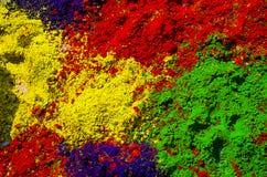 Ζωηρόχρωμες σκόνες Holi Στοκ Εικόνες