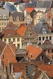 Ζωηρόχρωμες στέγες Γάνδη Βέλγων Στοκ Φωτογραφία