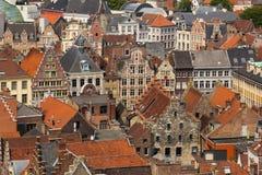 Ζωηρόχρωμες στέγες Γάνδη Βέλγων Στοκ Εικόνα