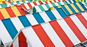 ζωηρόχρωμες στέγες Στοκ φωτογραφία με δικαίωμα ελεύθερης χρήσης