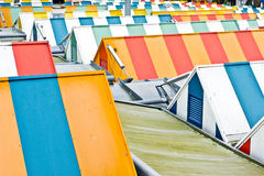ζωηρόχρωμες στέγες Στοκ Εικόνες