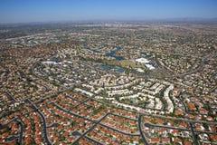 Ζωηρόχρωμες στέγες Scottsdale Στοκ Φωτογραφία