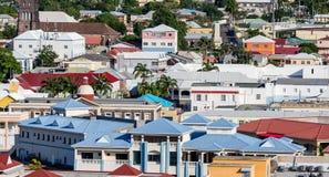 Ζωηρόχρωμες στέγες St. Kitts Στοκ φωτογραφία με δικαίωμα ελεύθερης χρήσης