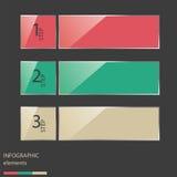 Ζωηρόχρωμες στιλπνές έμβλημα & κάρτα επιλογών αριθμού ύφους. Στοκ Εικόνες