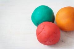 Ζωηρόχρωμες σφαίρες playdough Στοκ εικόνες με δικαίωμα ελεύθερης χρήσης