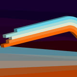 Ζωηρόχρωμες τρισδιάστατες γραμμές κυμάτων, σχεδιάγραμμα σύγχρονου σχεδίου για το κείμενό σας Στοκ εικόνα με δικαίωμα ελεύθερης χρήσης