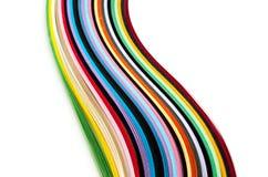 Ζωηρόχρωμες filigree λουρίδες εγγράφου Στοκ Εικόνα