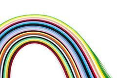 Ζωηρόχρωμες filigree λουρίδες εγγράφου Στοκ Εικόνες