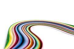 Ζωηρόχρωμες filigree λουρίδες εγγράφου Στοκ φωτογραφία με δικαίωμα ελεύθερης χρήσης