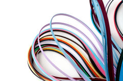 Ζωηρόχρωμες filigree λουρίδες εγγράφου Στοκ Φωτογραφίες