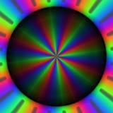 Ζωηρόχρωμες rgb ακτίνες των φω'των στο κυκλικό σχέδιο Στοκ φωτογραφία με δικαίωμα ελεύθερης χρήσης