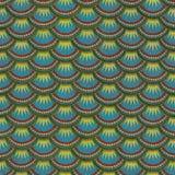 Ζωηρόχρωμη άνευ ραφής σύσταση κεραμιδιών ασβεστοκονιάματος κλίμακας ψαριών Στοκ Φωτογραφία