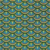 Ζωηρόχρωμη άνευ ραφής σύσταση κεραμιδιών ασβεστοκονιάματος κλίμακας ψαριών Στοκ φωτογραφία με δικαίωμα ελεύθερης χρήσης