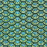 Ζωηρόχρωμη άνευ ραφής σύσταση κεραμιδιών ασβεστοκονιάματος κλίμακας ψαριών Στοκ Εικόνες