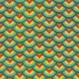 Ζωηρόχρωμη άνευ ραφής σύσταση κεραμιδιών ασβεστοκονιάματος κλίμακας ψαριών Στοκ Εικόνα