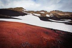 Ζωηρόχρωμη άποψη στο vulcanic έδαφος Στοκ φωτογραφία με δικαίωμα ελεύθερης χρήσης