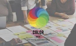 Ζωηρόχρωμη έννοια χρώματος σκιάς χρώματος Στοκ Φωτογραφίες