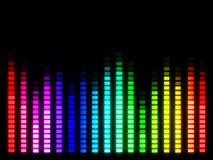 Ζωηρόχρωμη ένταση του ήχου μουσικής Στοκ φωτογραφίες με δικαίωμα ελεύθερης χρήσης