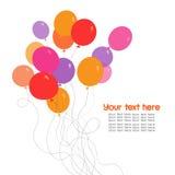 Ζωηρόχρωμη δέσμη των μπαλονιών γενεθλίων απεικόνιση αποθεμάτων