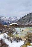 Ζωηρόχρωμη λίμνη Huanglong στοκ εικόνα με δικαίωμα ελεύθερης χρήσης