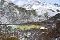 Ζωηρόχρωμη λίμνη Huanglong στοκ φωτογραφία με δικαίωμα ελεύθερης χρήσης