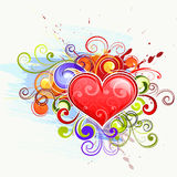 ζωηρόχρωμη αγάπη καρδιών διανυσματική απεικόνιση
