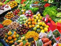 ζωηρόχρωμη αγορά καρπών στοκ εικόνες
