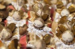 Ζωηρόχρωμη αγορά Χριστουγέννων στη Βουδαπέστη Στοκ Εικόνες