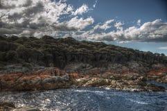 Ζωηρόχρωμη ακτή Στοκ εικόνα με δικαίωμα ελεύθερης χρήσης