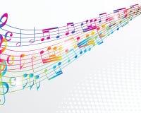 Ζωηρόχρωμη ανασκόπηση μουσικής. διανυσματική απεικόνιση