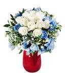 Ζωηρόχρωμη ανθοδέσμη λουλουδιών που απομονώνεται στο άσπρο υπόβαθρο Στοκ εικόνα με δικαίωμα ελεύθερης χρήσης