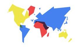 Ζωηρόχρωμη απεικόνιση γεωμετρίας παγκόσμιων χαρτών αφηρημένη Στοκ φωτογραφία με δικαίωμα ελεύθερης χρήσης