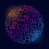 Ζωηρόχρωμη απεικόνιση καφέδων διανυσματική απεικόνιση