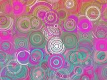 Ζωηρόχρωμη αφηρημένη γεωμετρική απεικόνιση σχεδίων κύκλων στοκ εικόνα