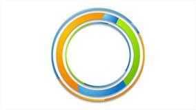Ζωηρόχρωμη αφηρημένη εταιρική τηλεοπτική ζωτικότητα λογότυπων κύκλων απεικόνιση αποθεμάτων