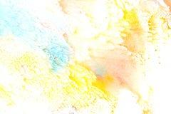 Ζωηρόχρωμη αφηρημένη ζωγραφική watercolor Στοκ φωτογραφίες με δικαίωμα ελεύθερης χρήσης