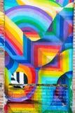Ζωηρόχρωμη αφηρημένη τέχνη γκράφιτι Στοκ φωτογραφία με δικαίωμα ελεύθερης χρήσης